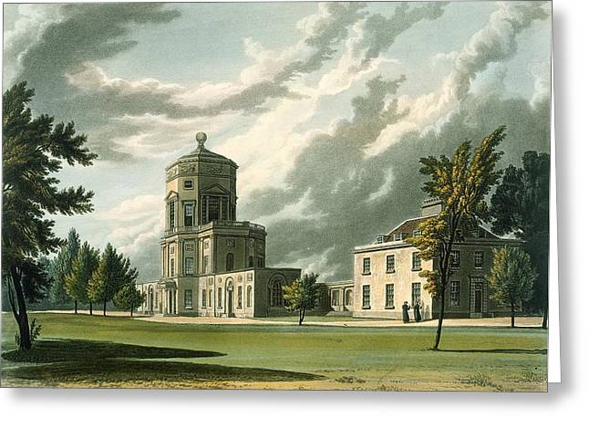Florida State Drawings Greeting Cards - Exterior Of The Astronomical Greeting Card by William Westall