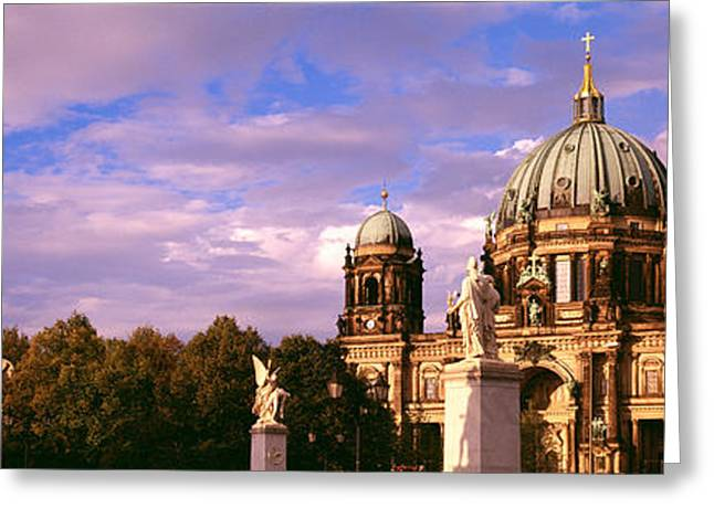 Berlin Germany Greeting Cards - Exterior View Of The Berlin Dome Greeting Card by Panoramic Images