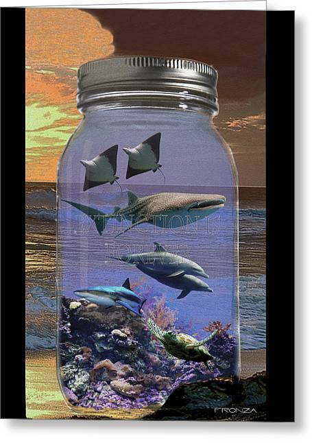 Water Jars Greeting Cards - Extinction is Forever 5 Greeting Card by John Fronza
