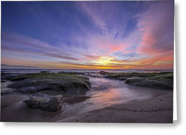 Ocean. Reflection Greeting Cards - Extinguish Greeting Card by Sean Foster