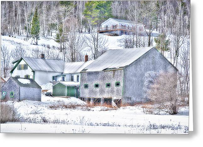 Old Maine Houses Greeting Cards - Extolling Rural Life Greeting Card by Richard Bean