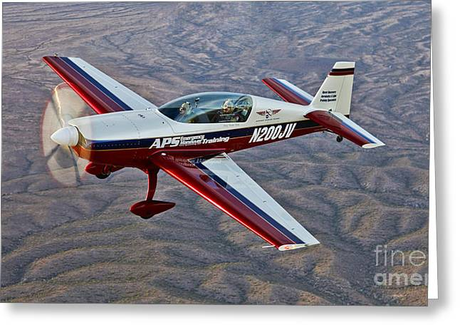 Monoplanes Greeting Cards - Extra 300 Aerobatic Aircraft Over Mesa Greeting Card by Scott Germain