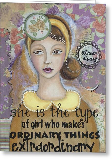 Extraordinary Inspirational Art Greeting Card by Stanka Vukelic