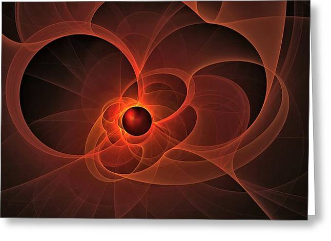 Fractal Eclipse Greeting Cards - Extrasolar Eclipse  Greeting Card by Doug Morgan