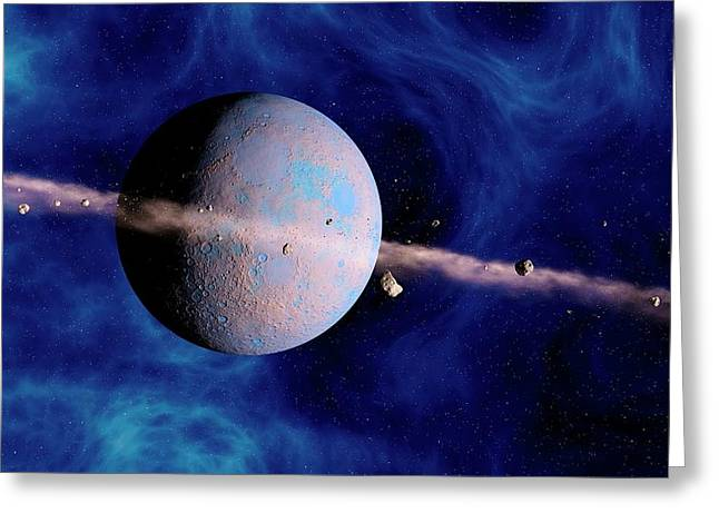 Extrasolar Planet Greeting Card by Joe Tucciarone