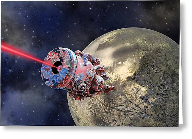 Surveying Greeting Cards - Extrasolar planetary probe, artwork Greeting Card by Science Photo Library