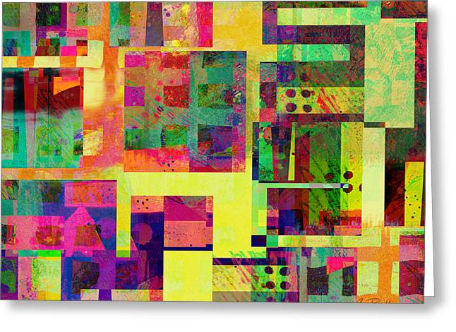 Birght Greeting Cards - Extreme Color  abstract art  Greeting Card by Ann Powell