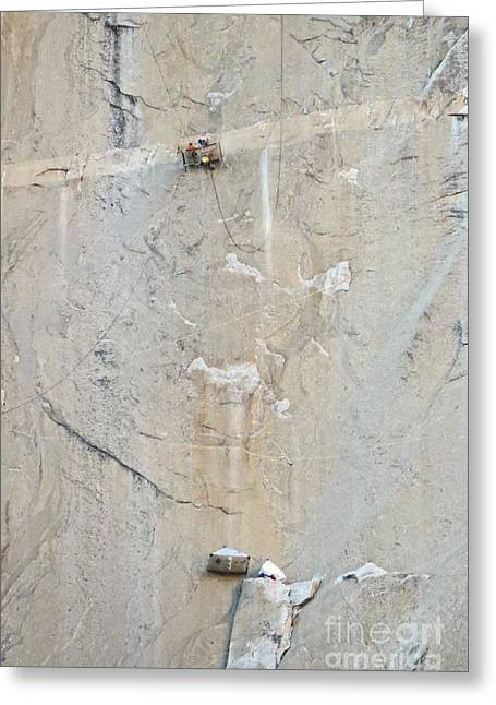 Monolith Greeting Cards - Extreme Rock Climbers Greeting Card by Scott Cameron