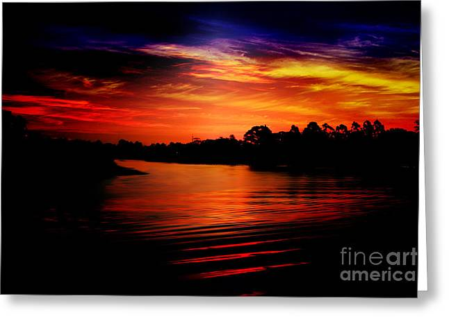 Reflectio Greeting Cards - Extreme sunrise Greeting Card by Wagner WM