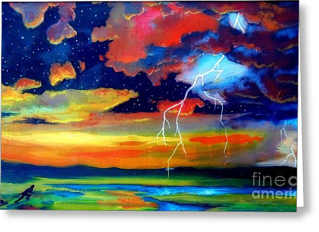 Survivor Art Greeting Cards - Extreme Weather Greeting Card by John Malone