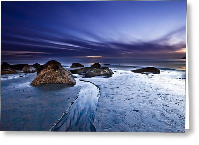 Seascape Greeting Cards - Exuberance 2 Greeting Card by Ryan Weddle