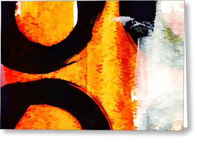 Recently Sold -  - Red Abstracts Greeting Cards - Exuberance Mini 12 Greeting Card by Carol Leigh