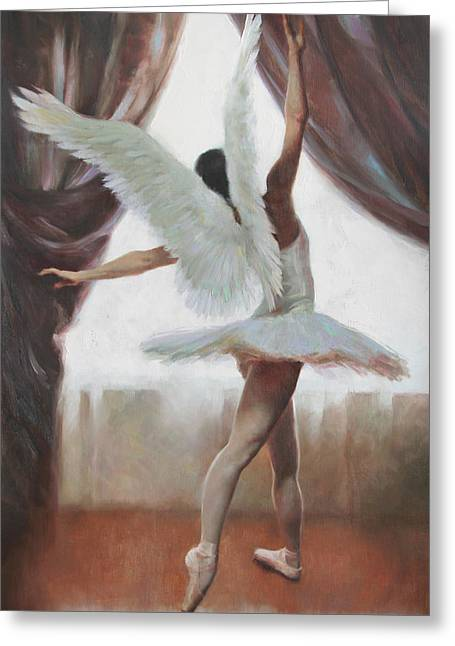 Angelic Greeting Cards - Exultation Greeting Card by Anna Bain