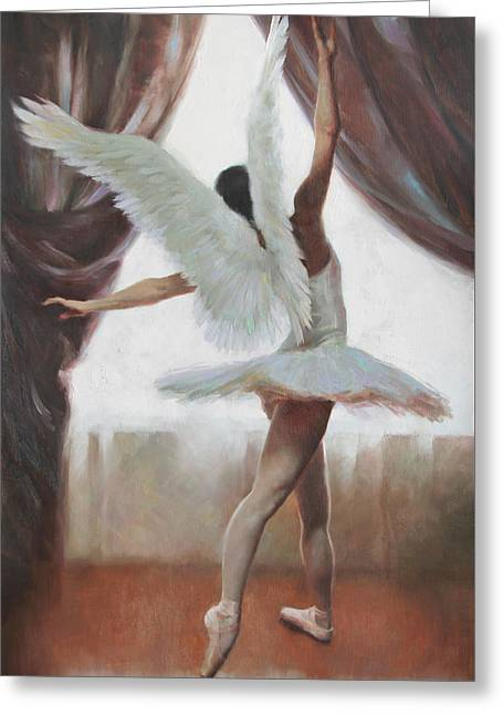Tutus Paintings Greeting Cards - Exultation Greeting Card by Anna Rose Bain