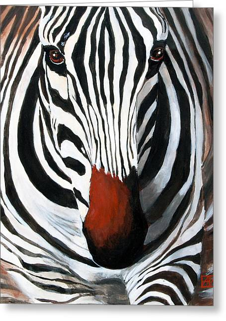 Photorealistic Paintings Greeting Cards - Eye Contact  Greeting Card by Adriana Vasile