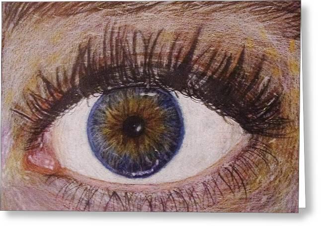 Eyelash Drawings Greeting Cards - Eye Drawing Greeting Card by Savanna Paine