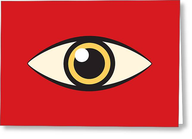 Watchdog Greeting Cards - Eye Greeting Card by Igor Kislev