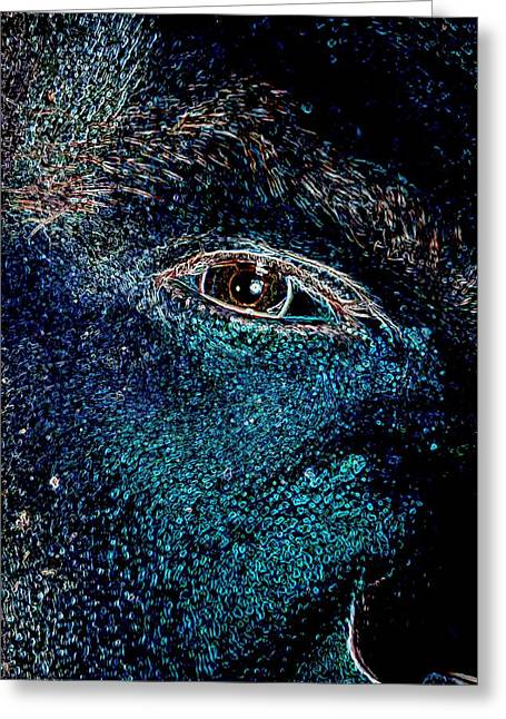 Nightcrawler Greeting Cards - Eye in Space Greeting Card by James Potts