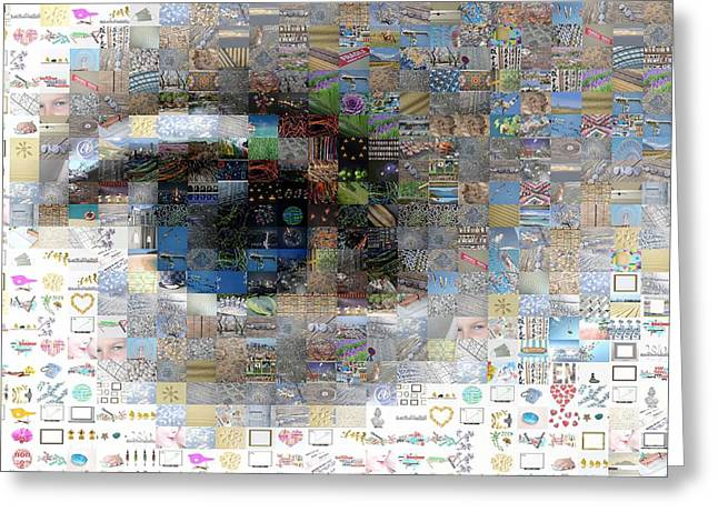 Virtual Images Greeting Cards - Eye mosaic Greeting Card by Delphimages Photo Creations
