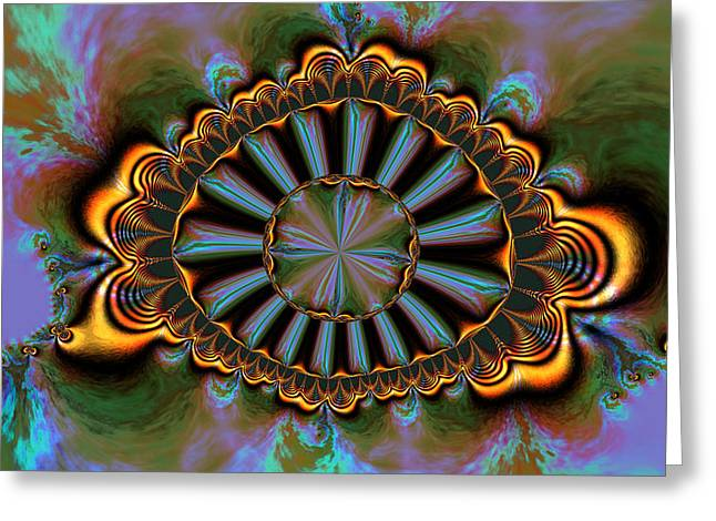 Generative Abstract Greeting Cards - Eye of centauris Greeting Card by Claude McCoy