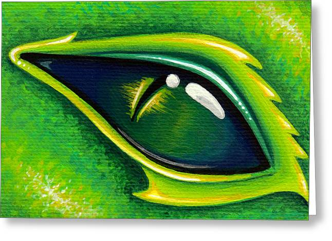 Green Eyes Greeting Cards - Eye Of Cepheus Greeting Card by Elaina  Wagner