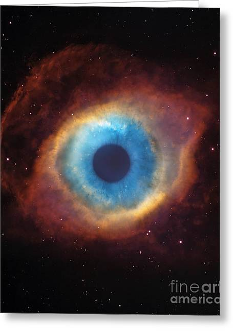 Recently Sold -  - Helix Greeting Cards - Eye Of God In The Helix Nebula Greeting Card by Mike Agliolo