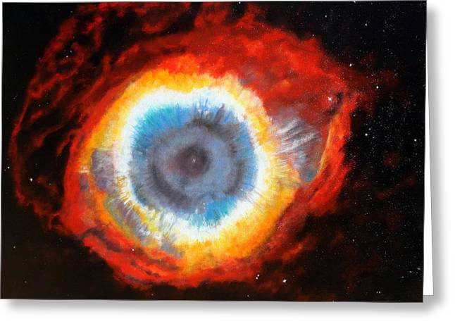 Lyndsey Hatchwell Greeting Cards - Eye of God   Greeting Card by Lyndsey Hatchwell