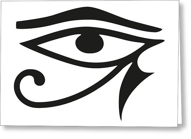 Horus Digital Art Greeting Cards - Eye of Horus Greeting Card by Peter Hermes Furian