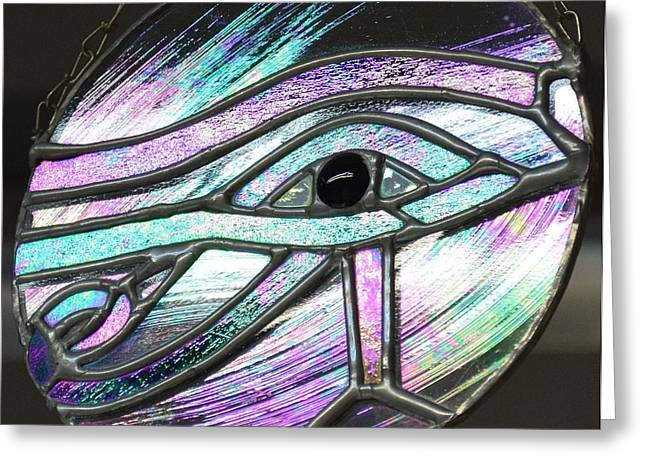 Horus Greeting Cards - Eye of Horus Greeting Card by Rosalind Duffy