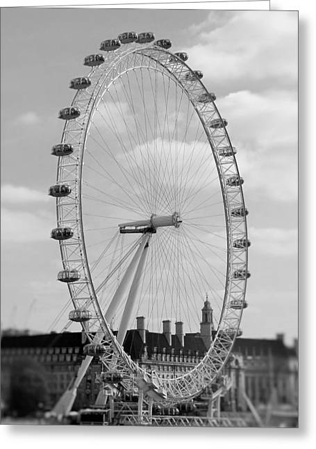 Wheel Pyrography Greeting Cards - Eye of London Greeting Card by Gary Smith