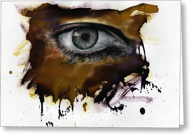 Sizes Pastels Greeting Cards - Eye of the beholder Greeting Card by Ole Hedeager Mejlvang