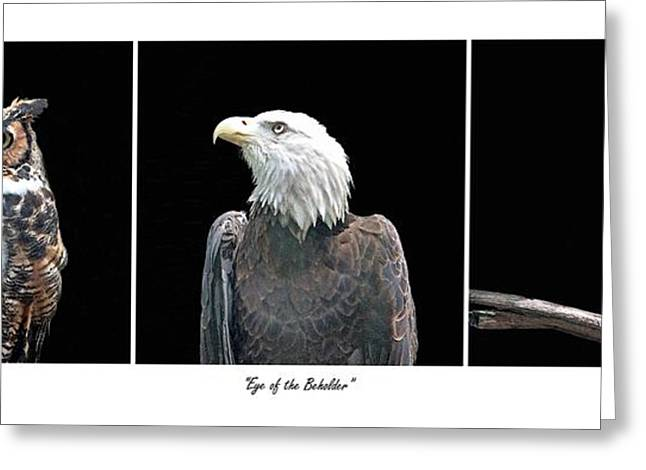 Enhanced Greeting Cards - Eye of the Beholder Greeting Card by Suzanne Gaff