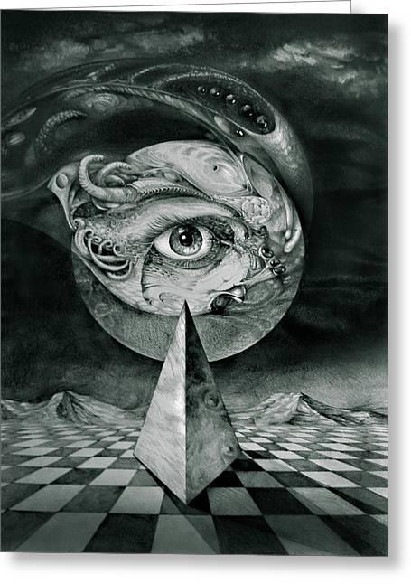 Eye Of The Dark Star Greeting Card by Otto Rapp