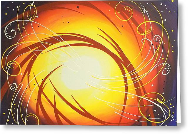 Abstract Sunburst Greeting Cards - Eye of the Hurricane Greeting Card by Darren Robinson