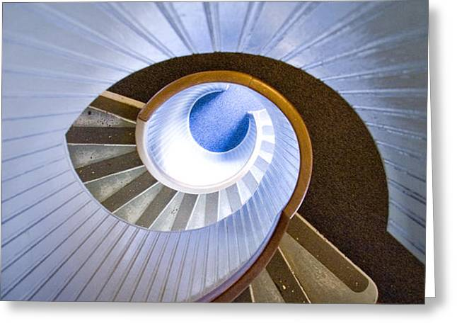 Winding Staircases Greeting Cards - Eye of the Lighthouse Greeting Card by Chris Brannen