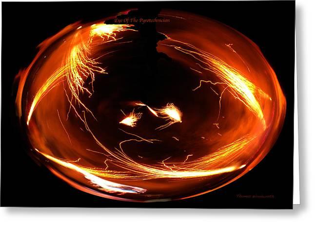Pyrotechnics Digital Art Greeting Cards - Eye Of The Pyrotechnician Greeting Card by Thomas Woolworth