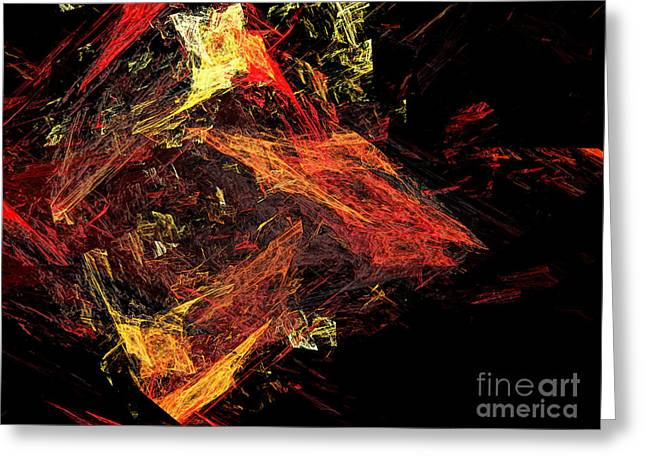 Mass Effect Greeting Cards - Eye Of The Storm 3 - Mass Chaos - Abstract - Fractal Art Greeting Card by Andee Design