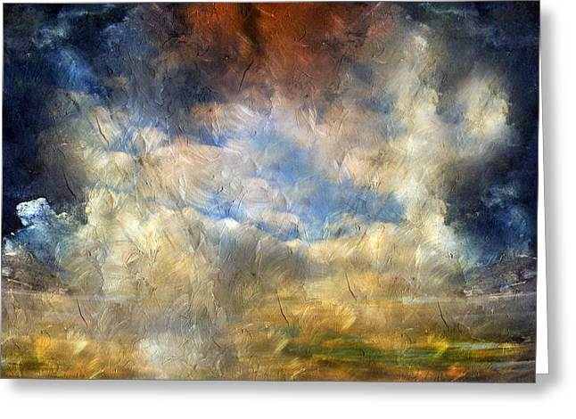 Eye Of The Storm  - Abstract Realism Greeting Card by Georgiana Romanovna