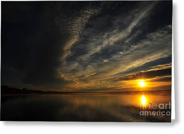 Sun Greeting Cards - Eye of the Storm Greeting Card by Terri Gostola