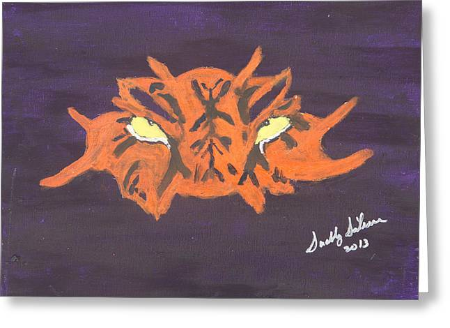 Mike The Tiger Greeting Cards - Eye of the Tiger Greeting Card by Swabby Soileau