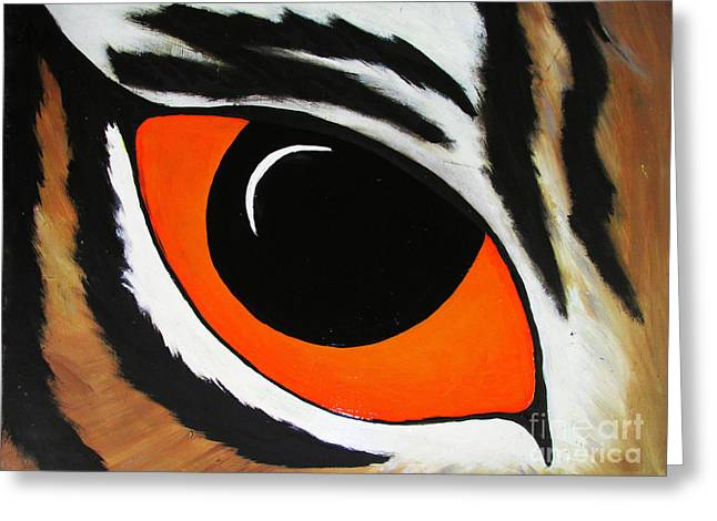Mike The Tiger Greeting Cards - Eye of the TIger  Greeting Card by TheKingofIdeas TKOI