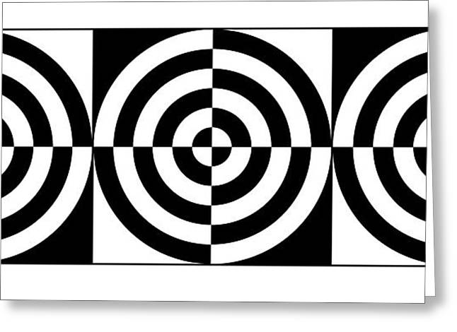 Rectangles Mixed Media Greeting Cards - Eye On Target Iv Greeting Card by Mike McGlothlen