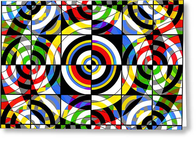 Squared Mixed Media Greeting Cards - Eye On Target Greeting Card by Mike McGlothlen