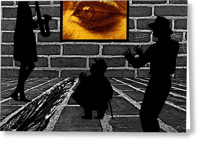 Seeing The Signs Digital Greeting Cards - Eye on the Wall Greeting Card by Barbara St Jean