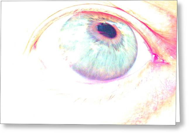 Saw Greeting Cards - Eye  Greeting Card by One Rude Dawg Orcutt