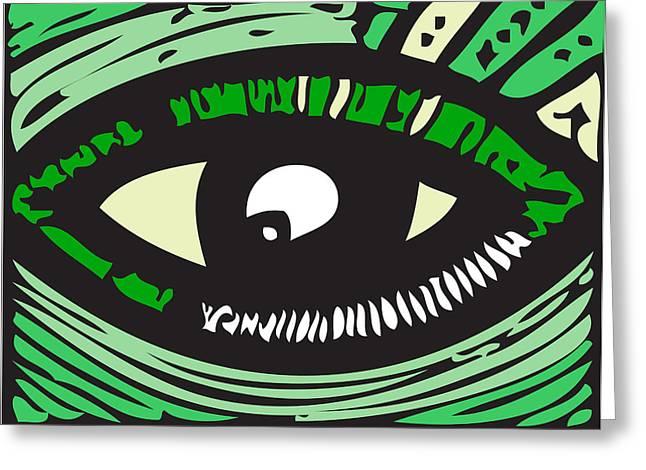 Eye Run It  Greeting Card by Kamoni Khem