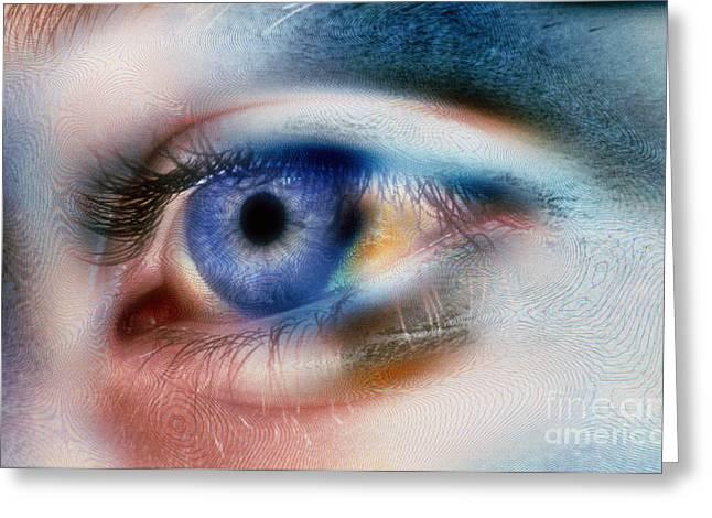 Eyelids Greeting Cards - Eye Greeting Card by Scott Camazine