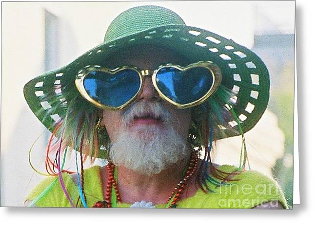 eye see Colours Of Specs Of Love At Southern Decadence In New Orleans Louisiana Greeting Card by Michael Hoard