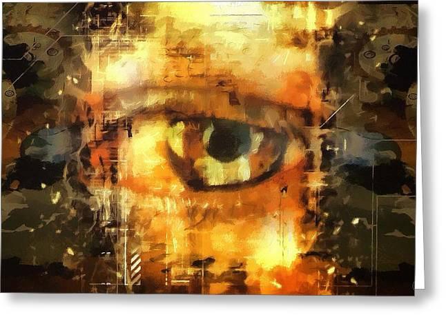 Eye See You Greeting Card by Gun Legler