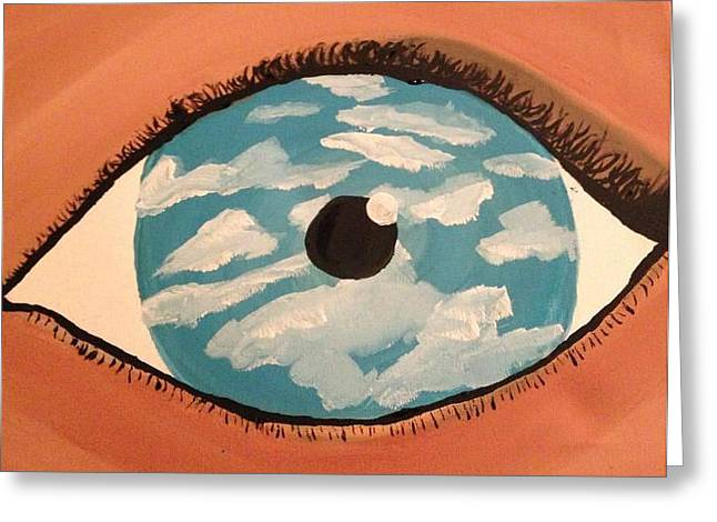 Eye Of Heaven Greeting Cards - Eye sky  Greeting Card by Oasis Tone